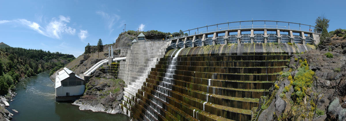 panorama photo of Copco Lake Dam